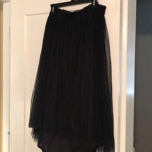NWT- Blk Lauren Conrad Hi-Low Tulle Skirt - Size L